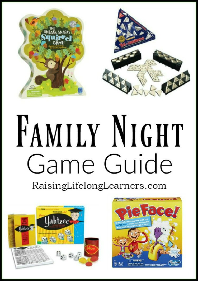 Everyone here looks forward to family night...Together time builds memories and strengthens family relationships. Check out these game night suggestions...