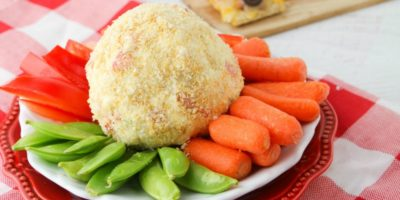 Quick and Easy Cracker Coated Cheese Ball