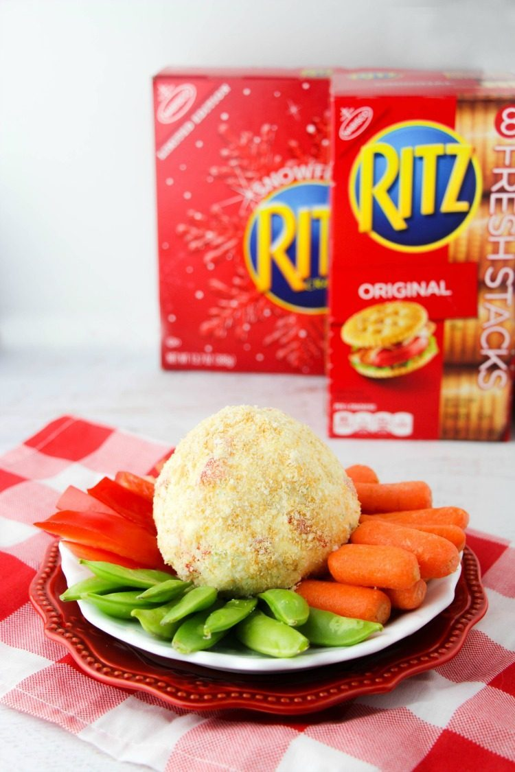 Cracker Coated Cheese Ball