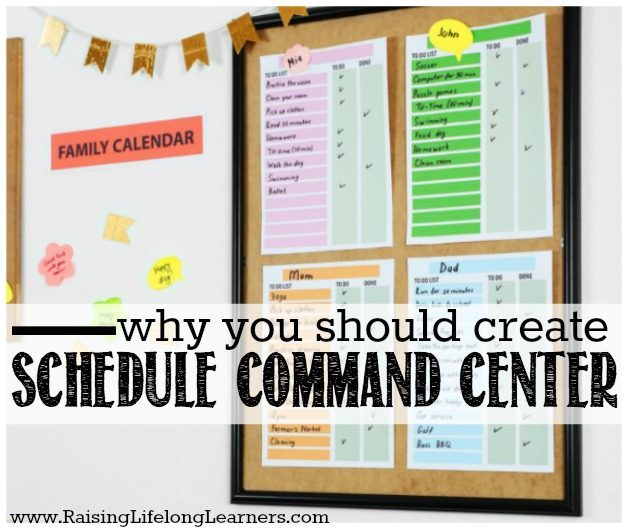 Why You Should Create a Family Schedule Command Center