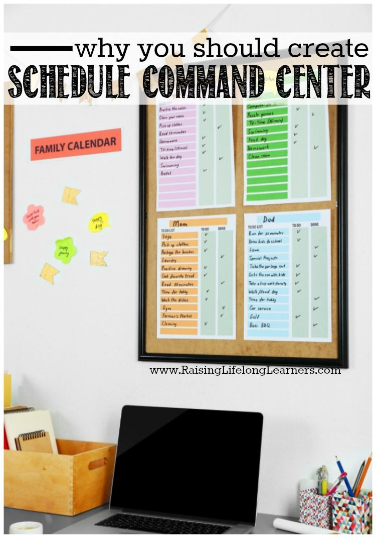 """""""What are we doing today?"""" Our kiddos ask about a billion and one questions a day. A family schedule command center helps them know what to expect..."""