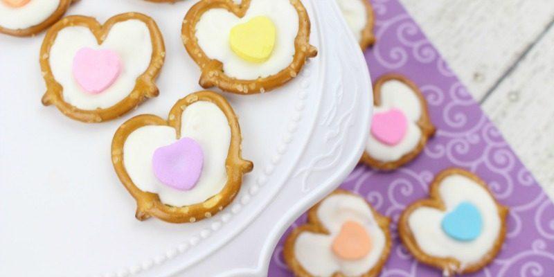 Valentine's Day White Chocolate Pretzels