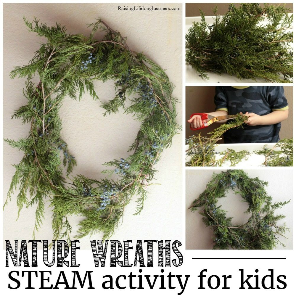 Explore nature, botany, and art all at the same time in this nature wreaths STEAM activity for kids! Explore winter and learn!