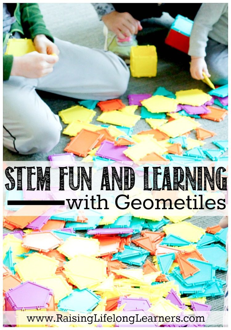STEM Fun and Learning with Geometiles-Just last night there were tears. Over math. Again. Geometiles are helping us dry those tears and fall in love with math again...