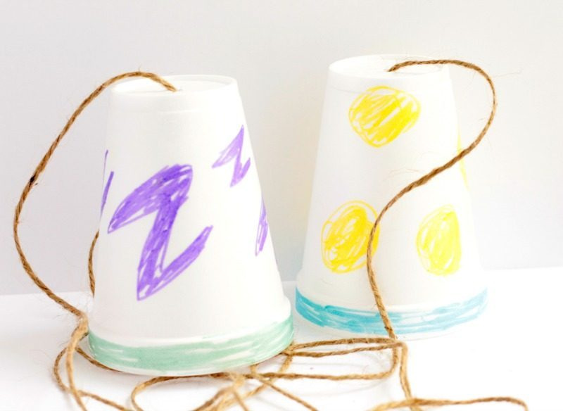 String telephone explanation how sound waves travel - Cups and kids ...