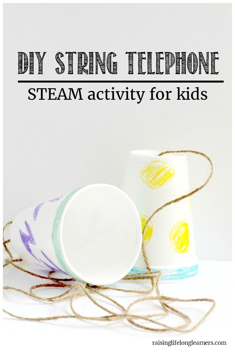 Making a cup and string telephone is a classic kids' activity. Make it a little more scientific with this string telephone explanation!
