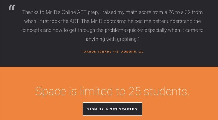 Mr. D Math ACT Bootcamp