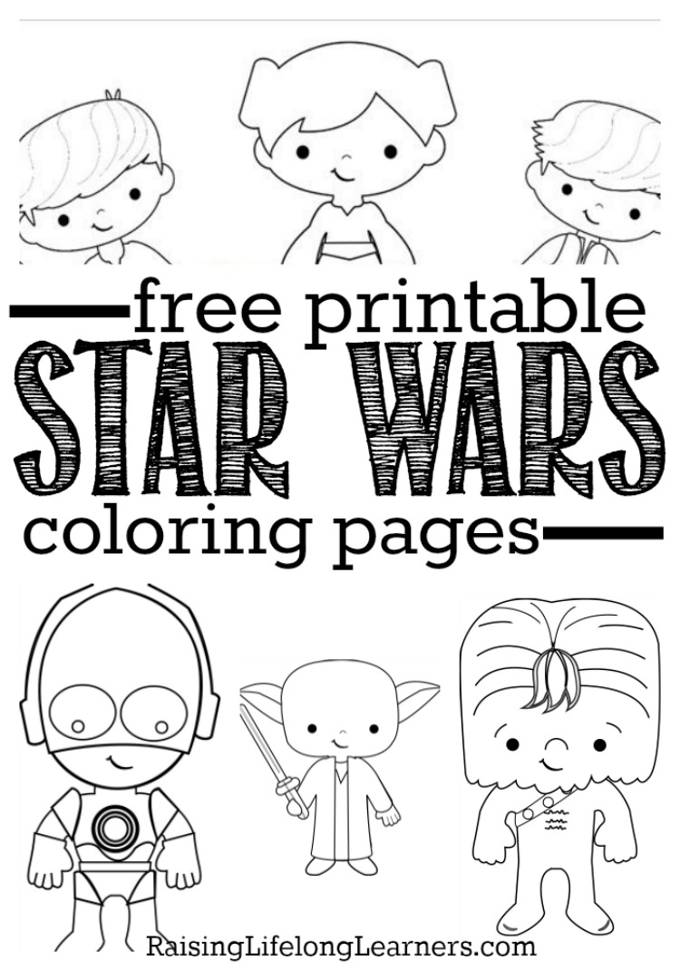 Free printable star wars coloring sheets