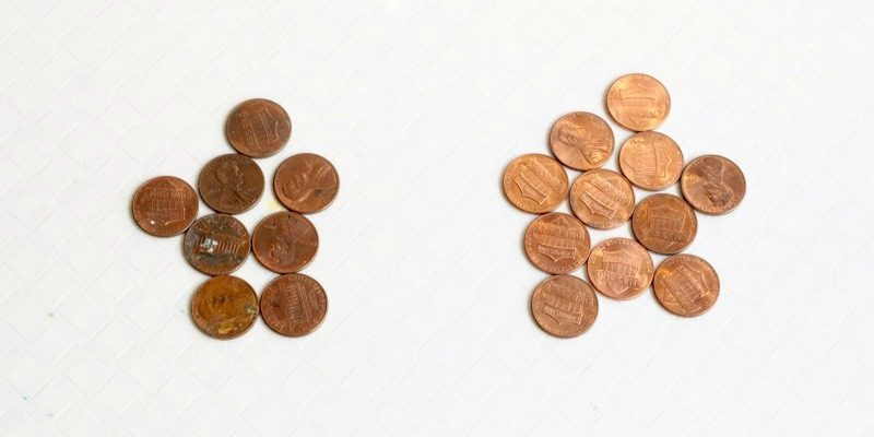 Cleaning Pennies Science Experiment for Kids