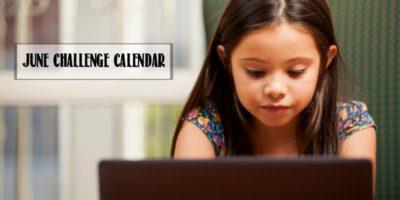 Minecraft Challenge Calendar | Free June Download