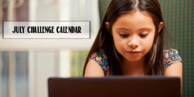 Minecraft Challenge Calendar | Free July Download