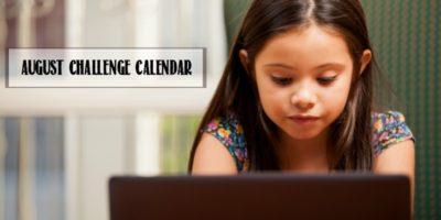 Minecraft Challenge Calendar   Free August Download