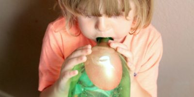 Blow Up a Balloon in a Bottle Science Experiment