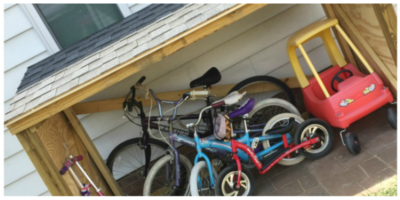 Roofing a Backyard Toy and Bike Shed