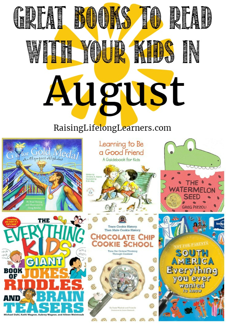 Great Books to Read With Your Kids in August