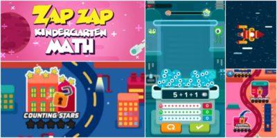 Kindergarten Math Practice with the Zap Zap Math App