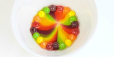 Skittles Rainbow Science Experiment
