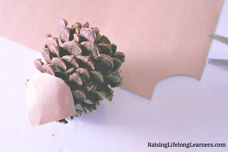 Pinecone Hedgehog Craft for Kids
