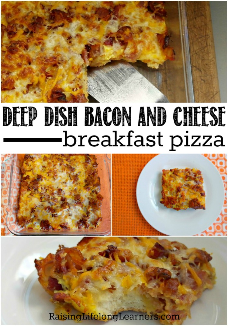 Deep Dish Bacon and Cheese Breakfast Pizza