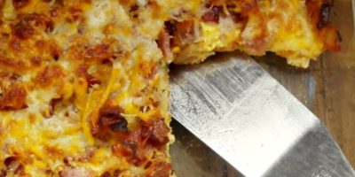 Deep Dish Bacon and Cheese Breakfast Pizza | Recipes for Kids