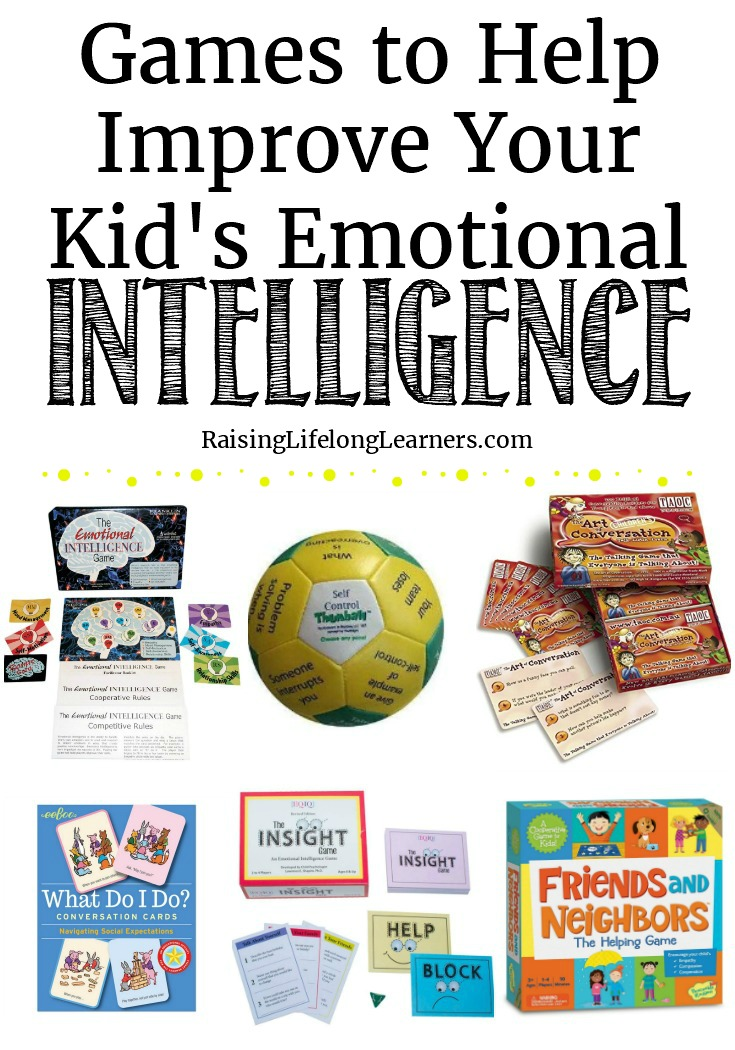 Emotions can take over without a plan in place. Learning through play is a fantastic way to teach new techniques to kids. Let's get to it with these games. Raising Lifelong Learners #games #giftedness #giftedchildren #emotionalintelligence #homeschooling #homeschoolfun