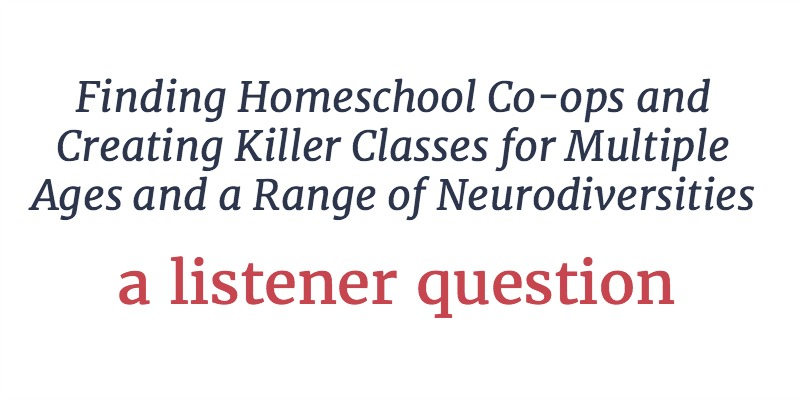 RLL 22: Finding a Homeschool Co-op and Creating Killer Classes | A Listener Question