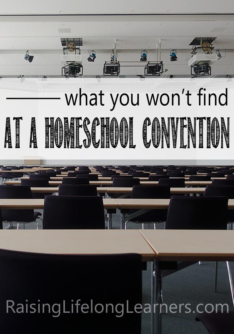 what you won't find at a homeschool convention