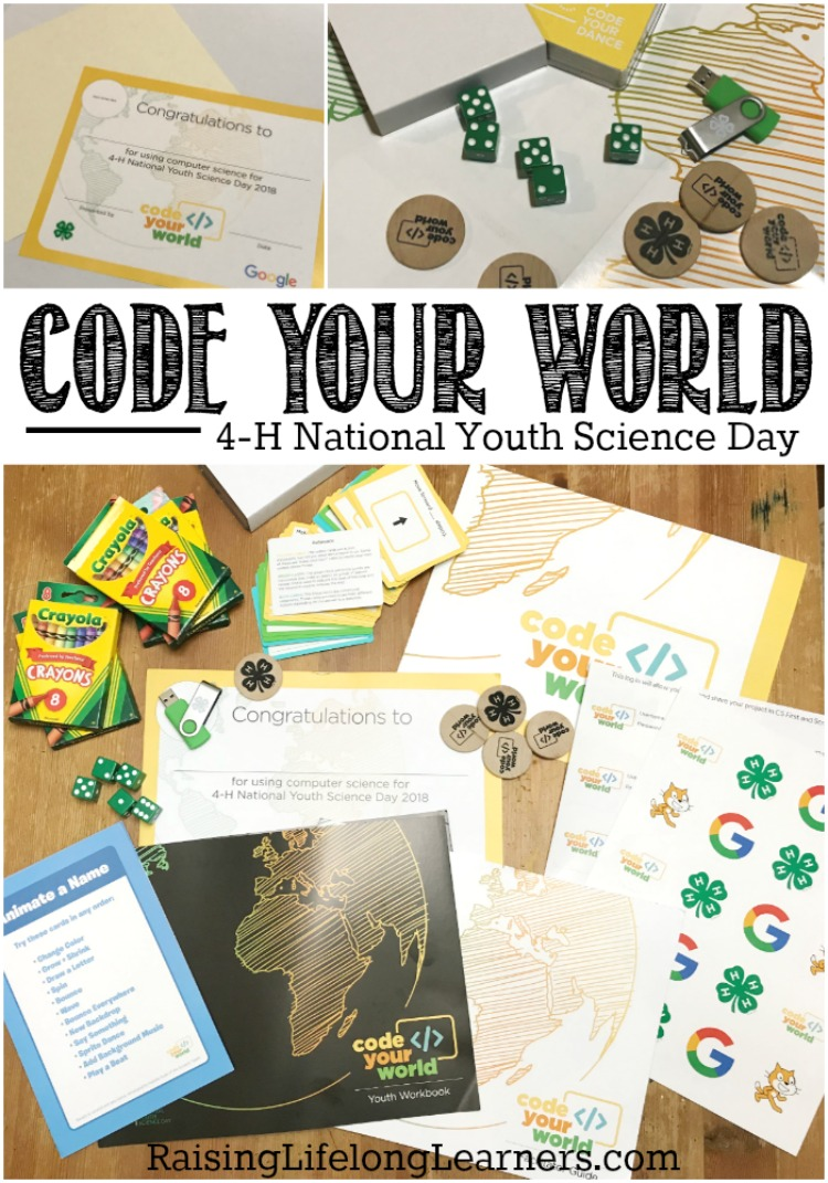 Code Your World - 4-H National Youth Science Day~It's important to give our kids STEM experiences. And, the 4-H Code Your World kits are a perfect way to do that and have fun at the same time! Raisinglifelonglearners.com #science #4H #YouthScienceDay #homeschooling #homeschoolscience