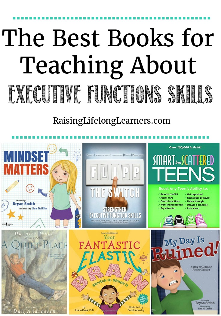 Watching your child struggle with executive function skills is tough. We want to find a way to mitigate their struggle -- these books can help. ~ Raising Lifelong Learners #books #goodbooks #executivefunction #ADHD #specialneeds