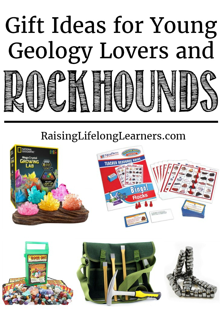 I'm excited to bring you one more way to get kids fired up about geology -- these are the best gift ideas for young geology lovers! #Geology #giftguide  Raising Lifelong Learners
