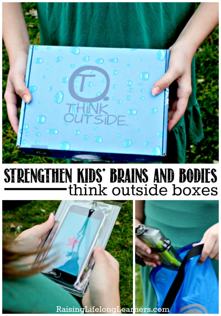 Kids are more active in nature, and Think Outside Boxes can be a sneaky way of getting kiddos who would rather be building LEGO to head outside.