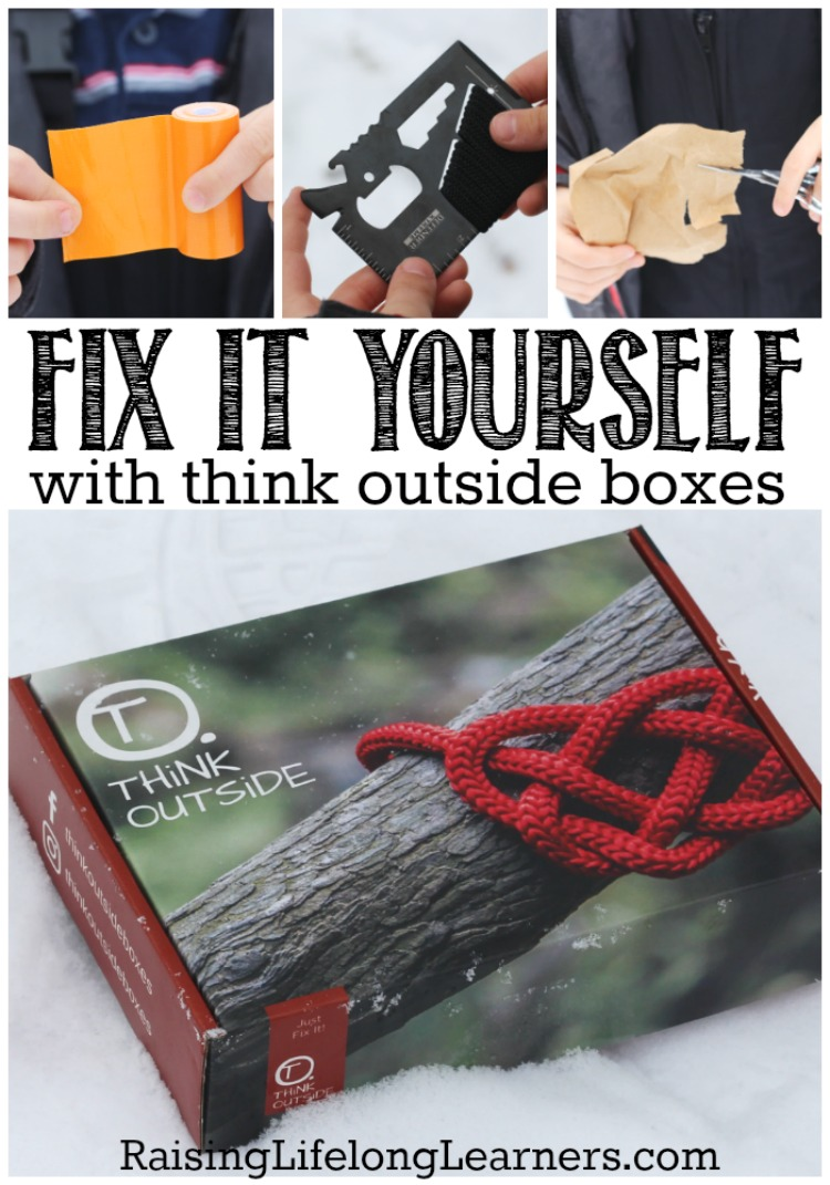 Fix it Yourself with ThinkOutside Boxes| This month's Think Outside Boxes Repair Box might just be the best one yet. My kids are learning to be self-sufficient and confident.  | Raising Life Long Learners