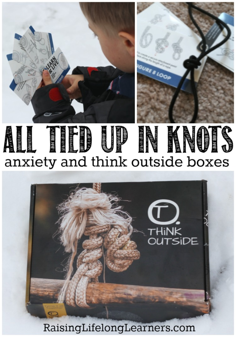"All Tied Up In Knots - Think Outside Boxes | The ""empathy"" section in this month's ""Knot Box"" from Think Outside Boxes focused on empathizing with those who struggle with anxiety... amazing! 