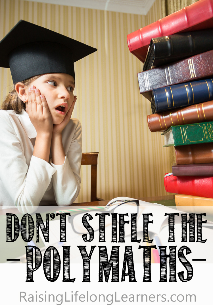 don't stifle the polymaths