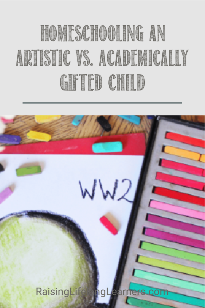 artistic vs academically gifted child