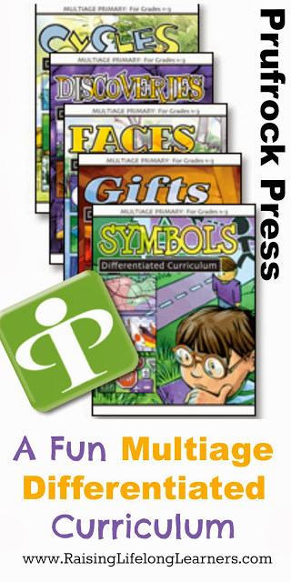 A Fun Differentiated Curriculum from Prufrock Press via www.RaisingLifelongLearners.com